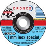 DRONCO '1 mm Inox Special' Flat Metal Cutting Discs 4 1/2""